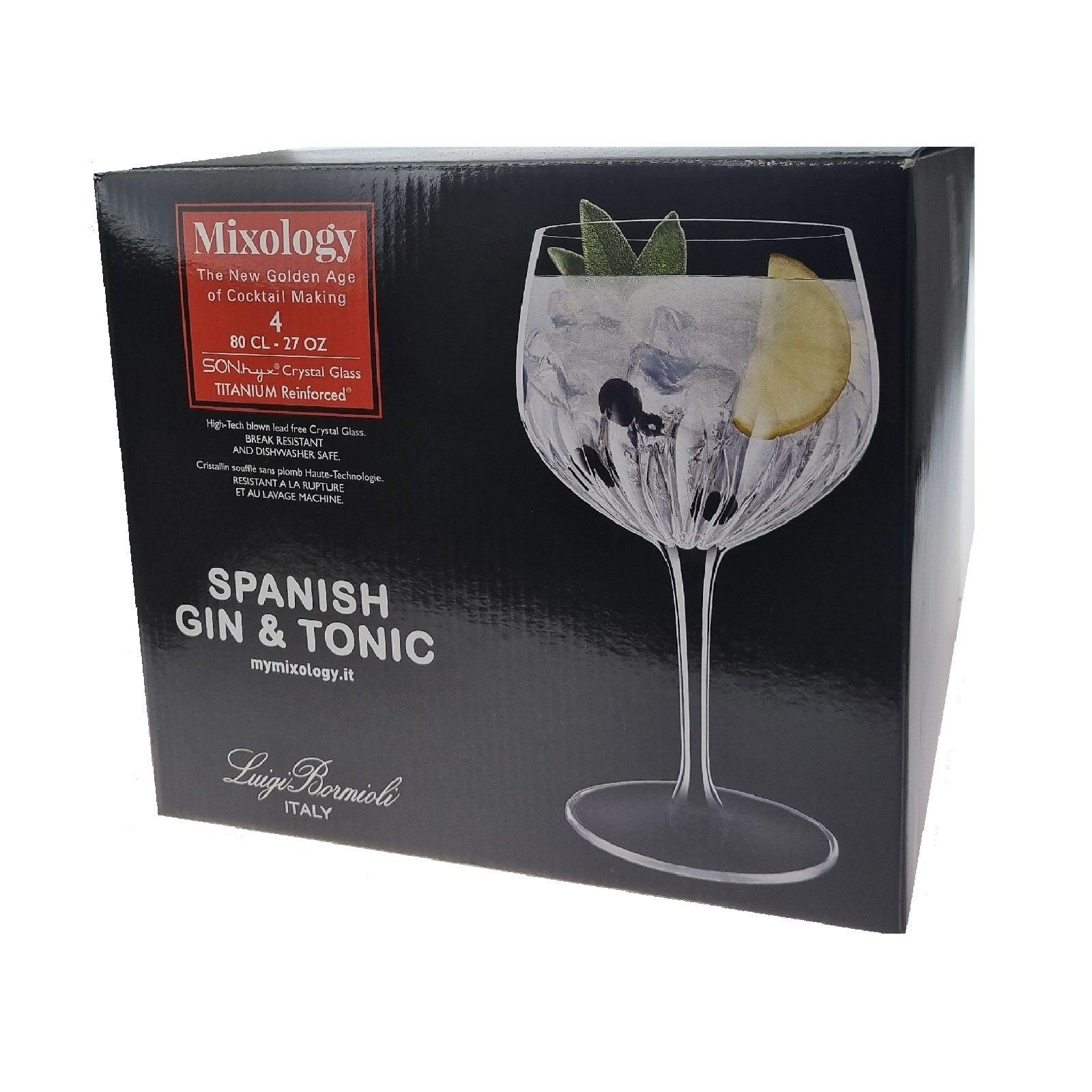 LUIGI BORMIOLI MIXOLOGY GIN & TONIC GLASSES SET 4