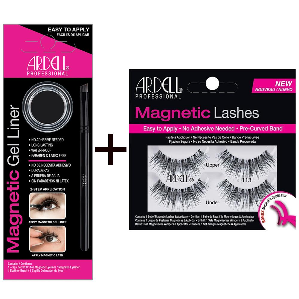 Ardell Magnetic Gel Liner & Magnetic Strip Lash - Lash 113 Pack No Adhesive