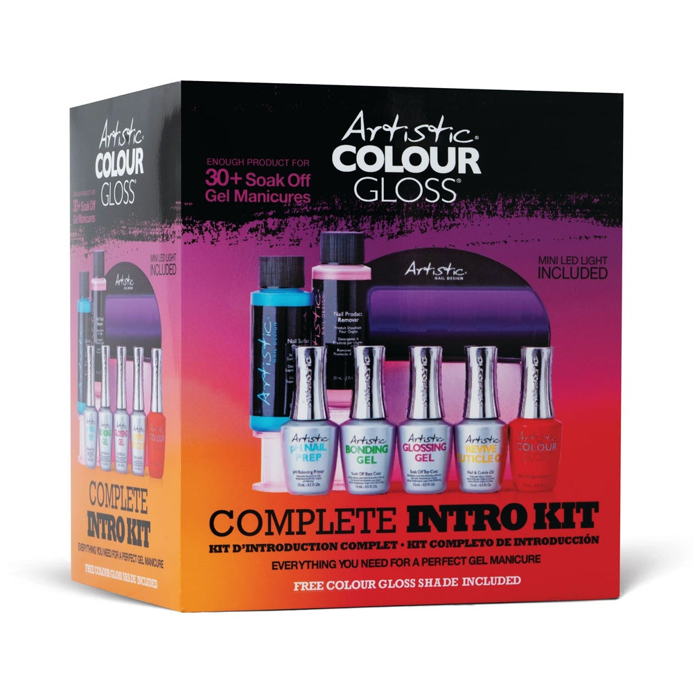 Artistic Nail Design Colour Gloss Complete Intro Kit - DIY Gel Nails & Removal