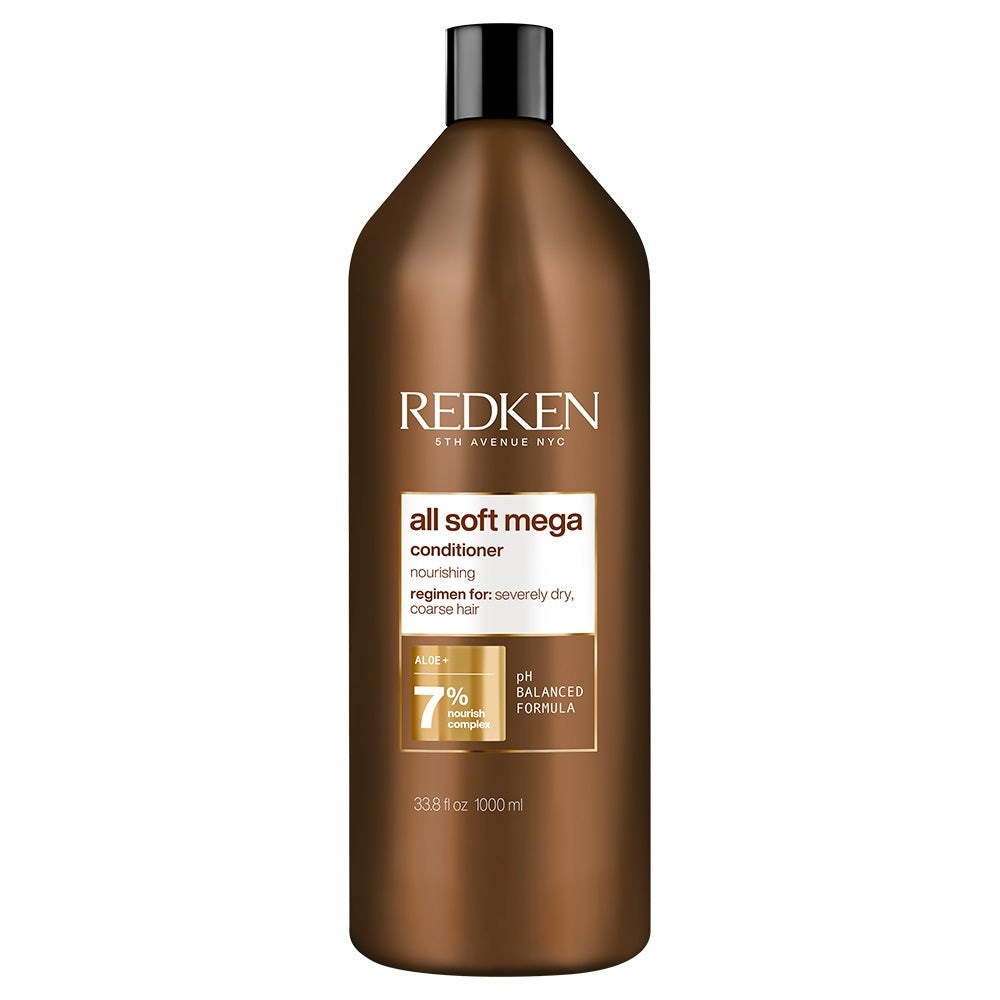 Redken All Soft Mega Conditioner 1 Litre 1L Hydrate Severely Dry Coarse Hair