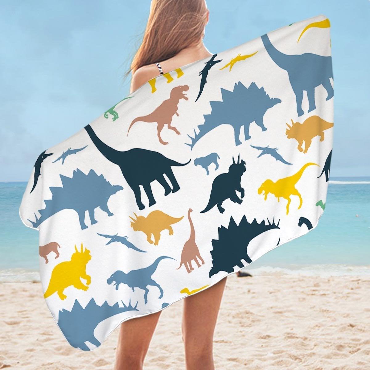 Dinosaurs For Kids Microfiber Beach Towel