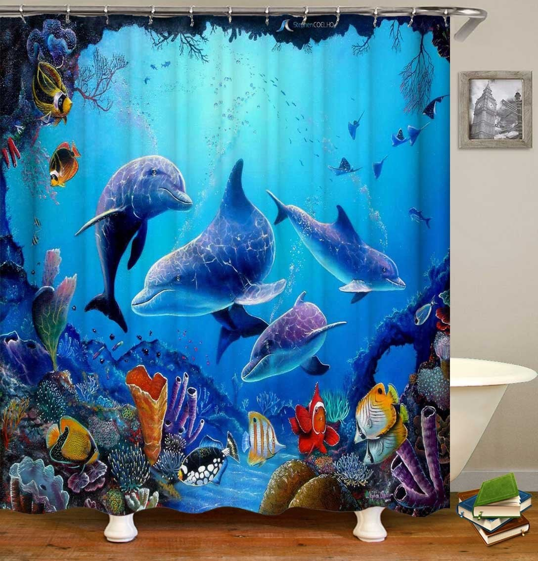 Dolphin Reef Shower Curtain