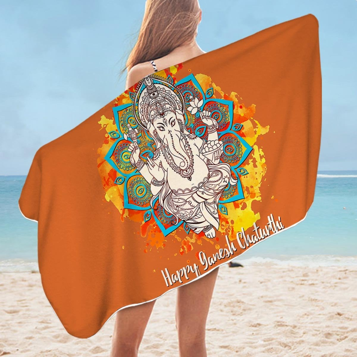 Ganesh Microfiber Beach Towel