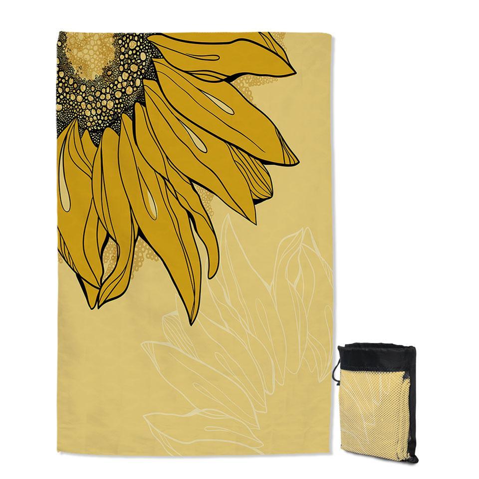 Hidden Sunflower Quick Dry Beach Towel