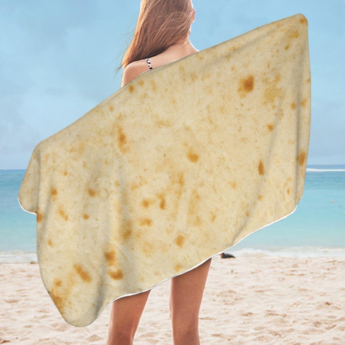 Men's Cool Burrito Microfiber Beach Towel