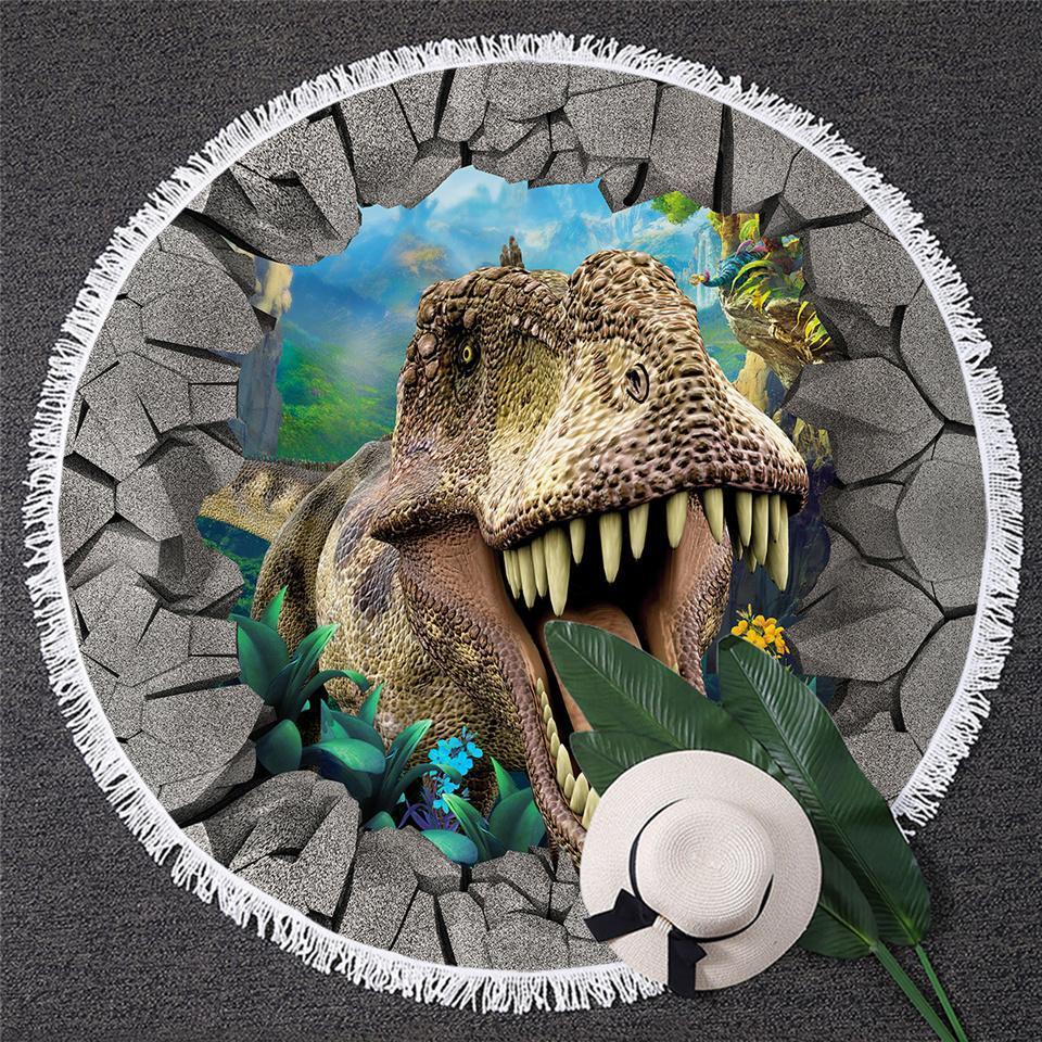 T-Rex Dinosaur Beach Towel