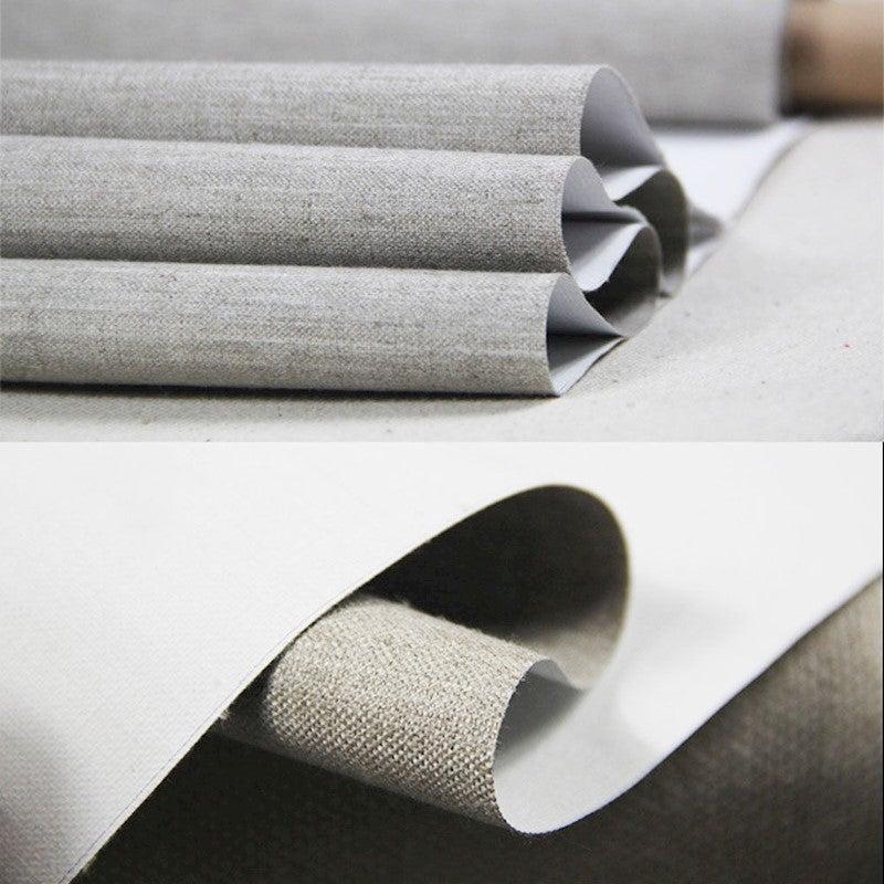10m Roll 13oz Triple Primed Artist Canvas Roll 1.6m Wide - Fine Texture - Pure Linen