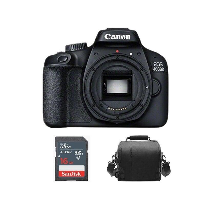 CANON EOS 4000D Body Black + Camera Bag + 16gb SD card