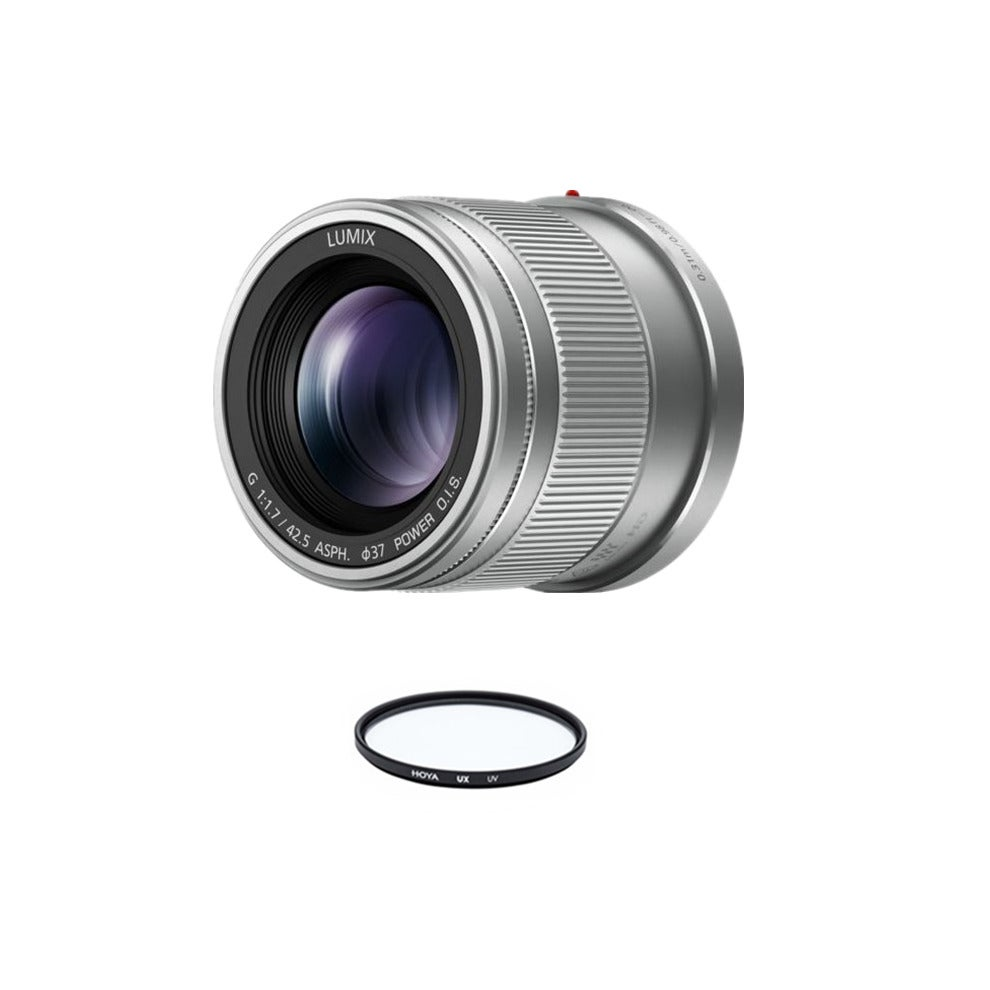 PANASONIC 42.5mm F1.7 ASPH O.I.S Silver + HOYA UX UV 37mm Filter