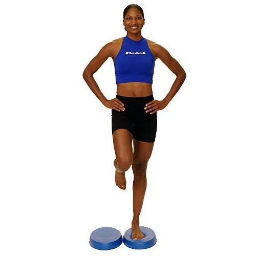 A Pair Of New Stability Balance Trainer TPE - Blue Balance Pads For Yoga Elite Fitness Exercise Training (Blue)