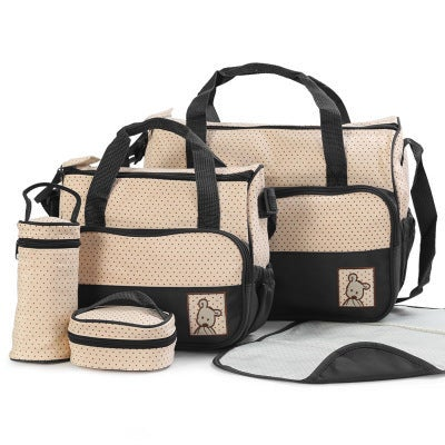 Baby Diaper Bag Suits For Mom Baby Bottle Holder Mother Mummy Stroller Maternity Nappy Bags Sets