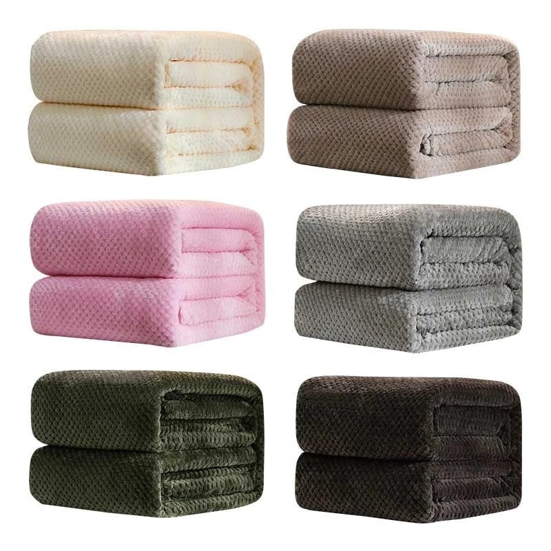 Home Textile Polar Microfiber Blanket Cover The Bed 200x230cm Large Thick Fleece Sofa Blanket Multiple Colors Blankets For Kids