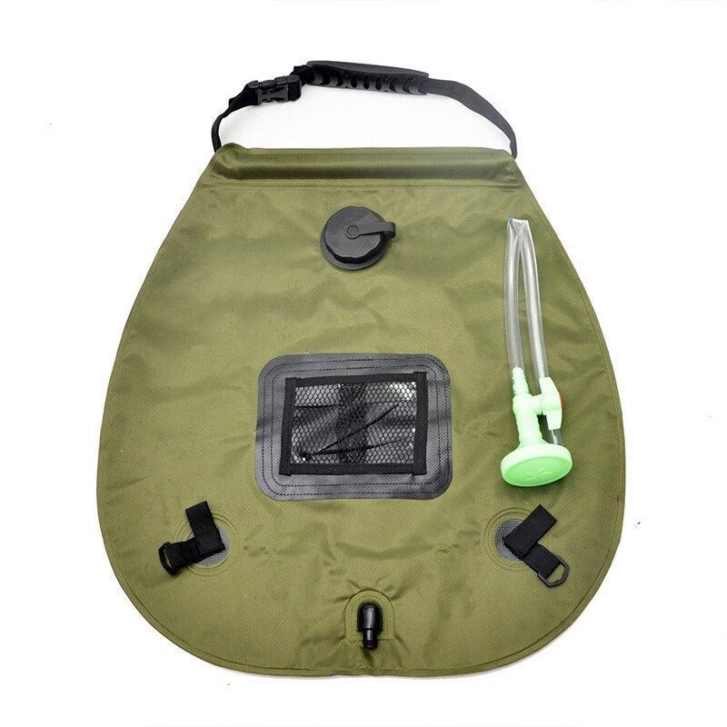 Solar Bathing Bag Outdoor Self-driving Camping Hot Water Bottle Portable Outdoor Sunbathing Bath Water Storage Bag 20L