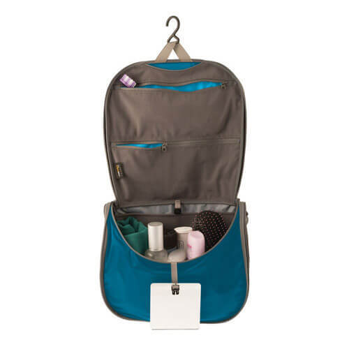 BLUE/GREY - LARGE Sea to Summit Travelling Light Hanging Toiletry Bag