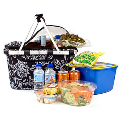 CAMELLIA BLACK Sachi Designer Insulated Carry Basket