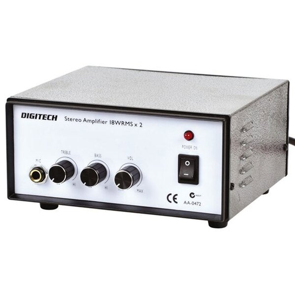 Digitech Mini Stereo Home Amplifier w/ Tone Ctrl (2x18W RMS 240VAC)