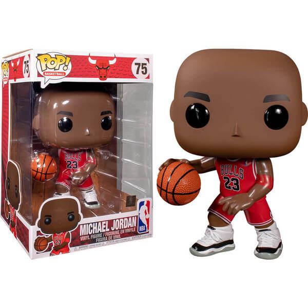 "NBA Bulls Michael Jordan Red Jersey 10"" Pop! Vinyl"