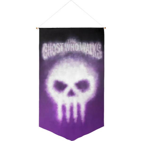 The Phantom The Ghost Who Walks Satin Wall Banner