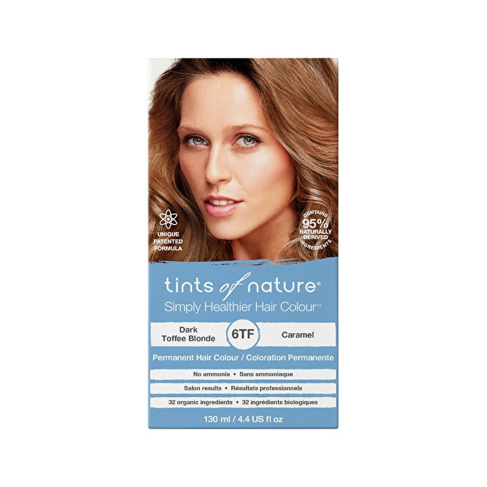 Hair Care Tints of Nature Perm. Hair Colour Dark Toffee Blonde 6TF