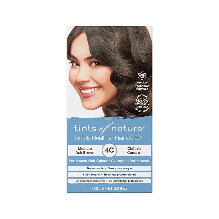 Hair Care Tints of Nature Permanent Hair Colour Medium Ash Brown 4C