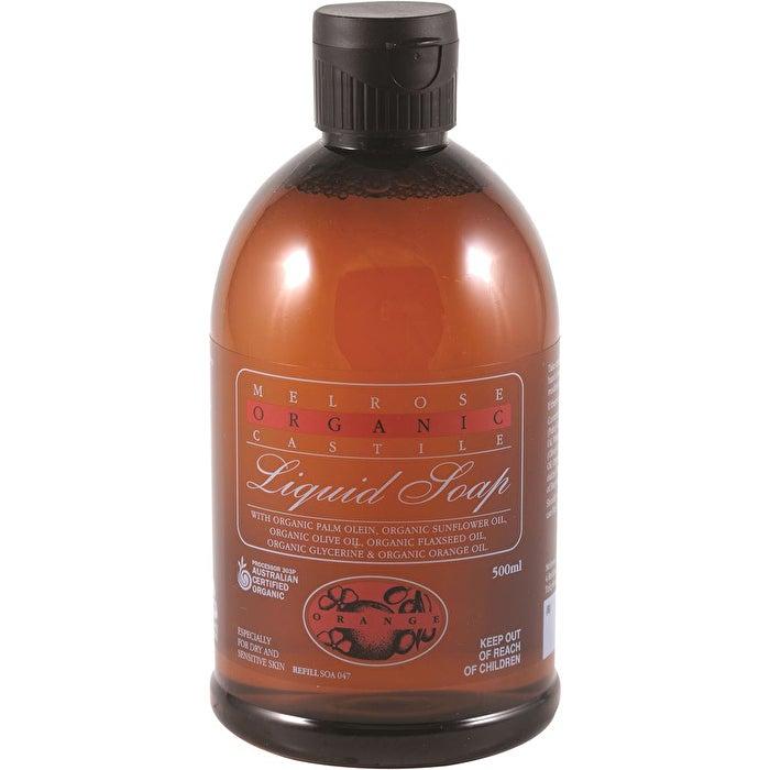 Skincare Melrose Organic Castile Liquid Soap Orange Refill 500ml