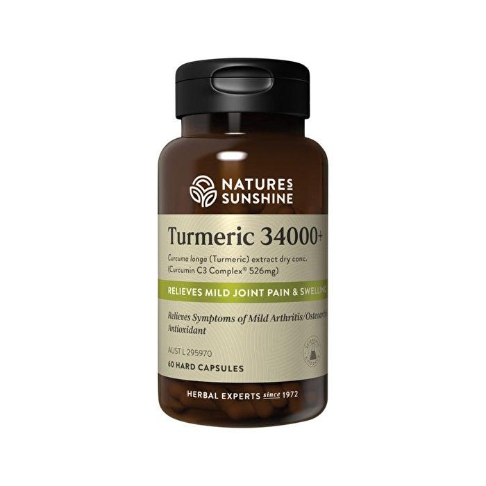 Skincare Nature's Sunshine Turmeric 34000+ 60c