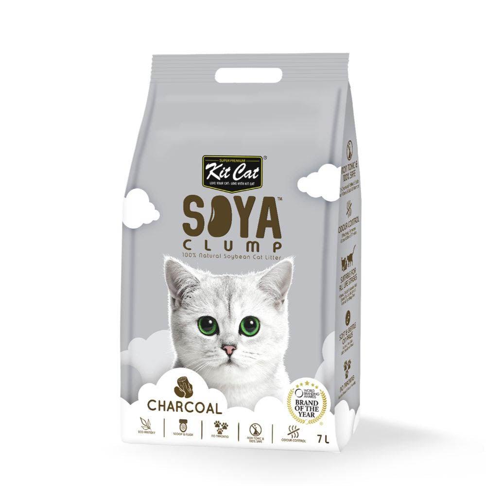 Kit Cat Soya Clumping Cat Litter Charcoal 7L