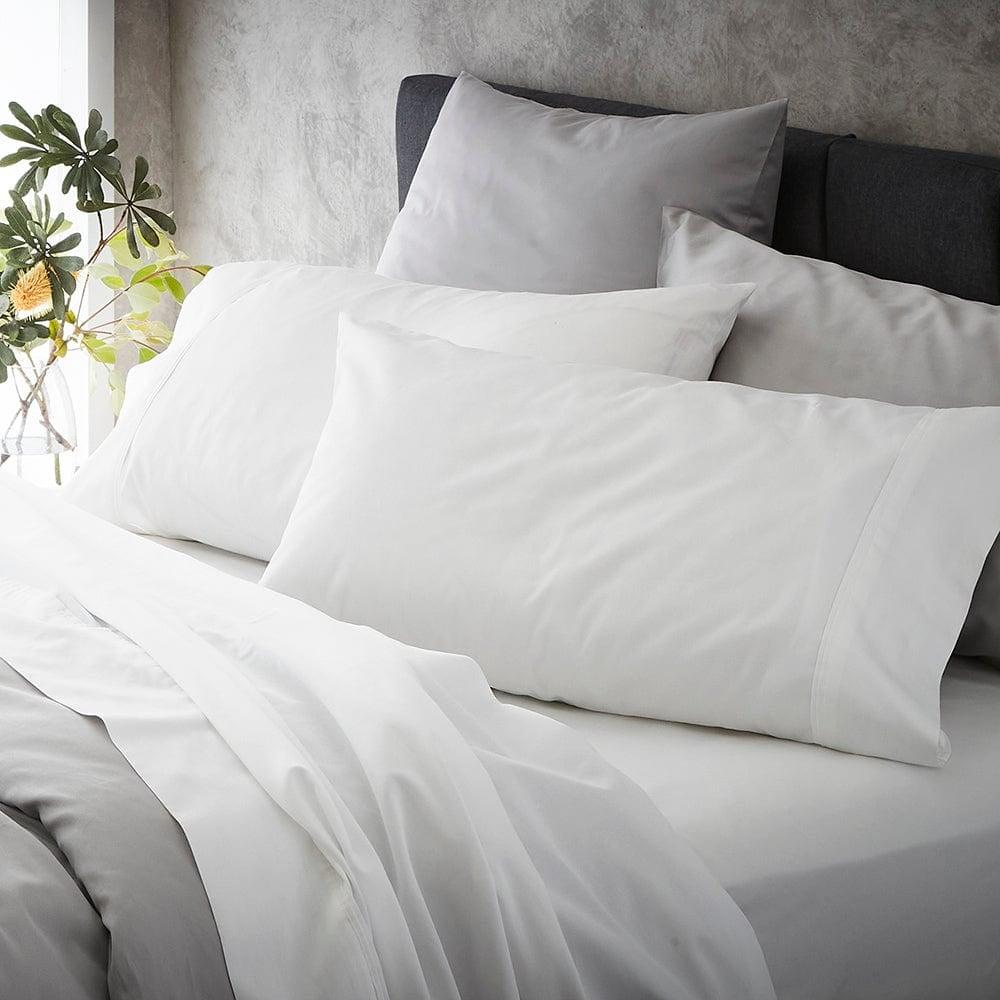 MyHouse Ashton Pillow Case Pack Standard Pack White