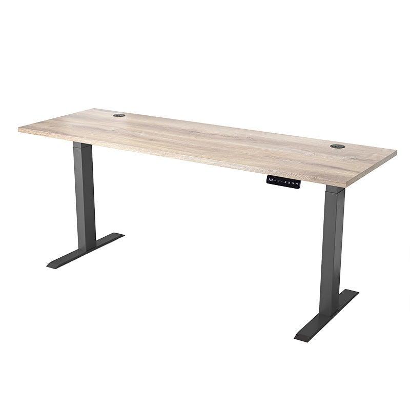 ALVIS Standing Desk with Lift 1.8M - Mahogany Black