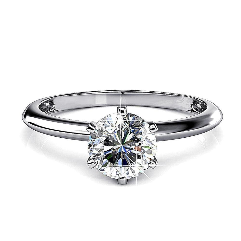 One In A Million Solitaire Ring Embellished with Swarovski® crystals