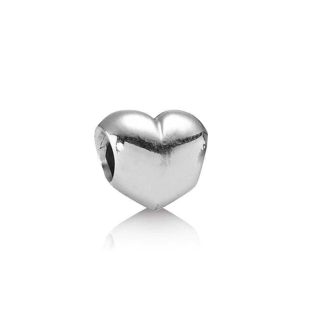 Smooth Heart Silver Charm