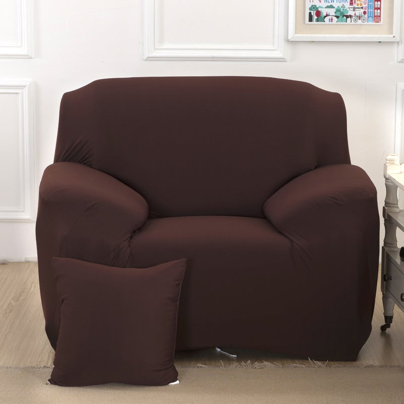 1 Seater High Stretch Sofa Cover Couch Lounge Protector Slipcovers - Coffee