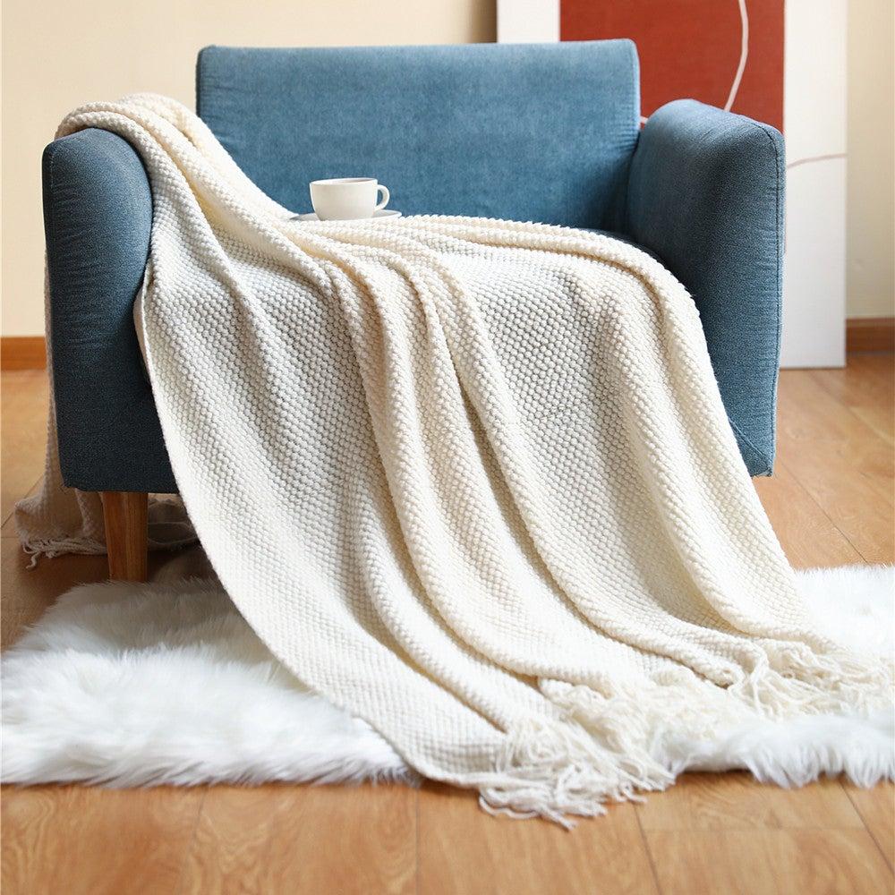 127x152cm Cozy Decorative Knit Woven Throw Blanket