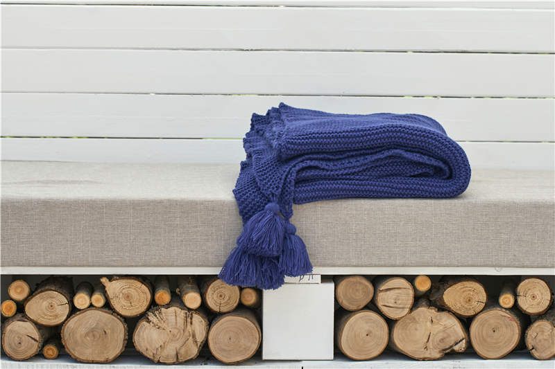 130x160cm Cozy Decorative Knit Woven Throw Blankets