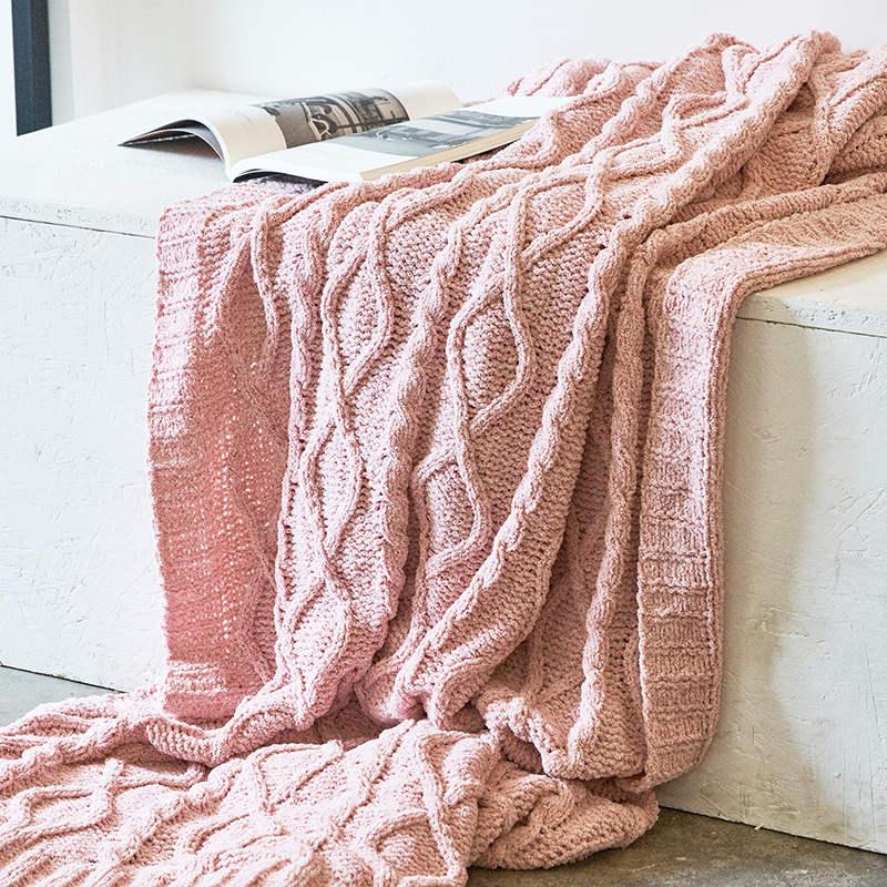 130x180cm Cozy Decorative Knit Woven Throw Blankets