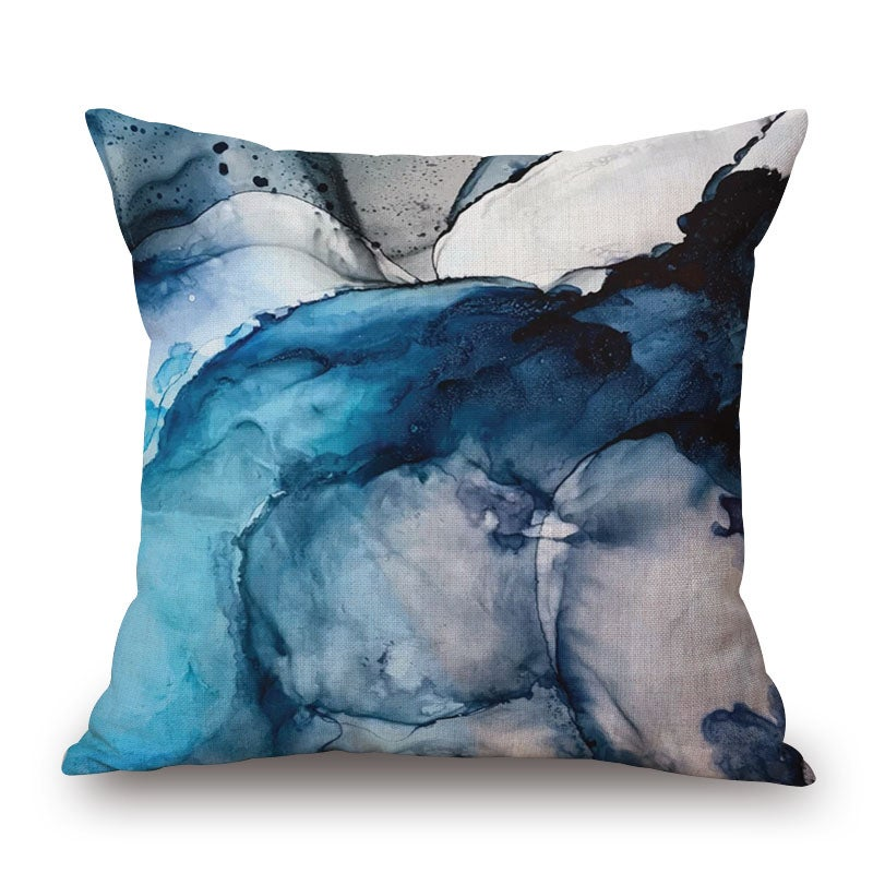 Ink Smoke on Cotton&linen Pillow Cover 85373