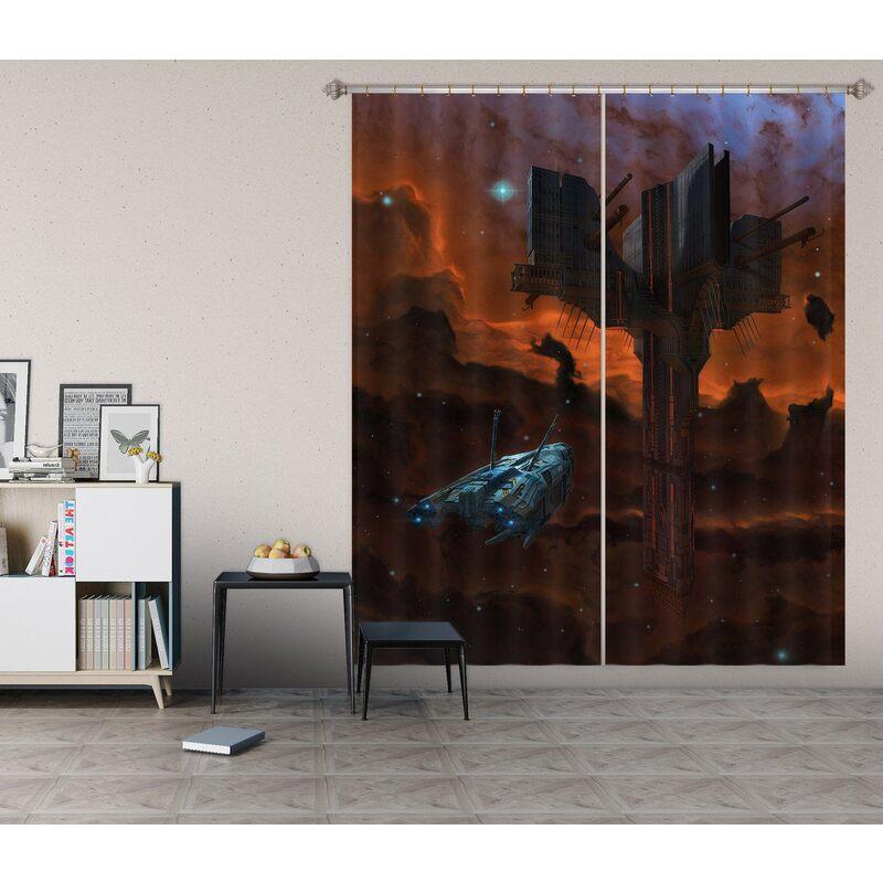 3D Alien Artifact 007 Vincent Hie Curtain Curtains Drapes