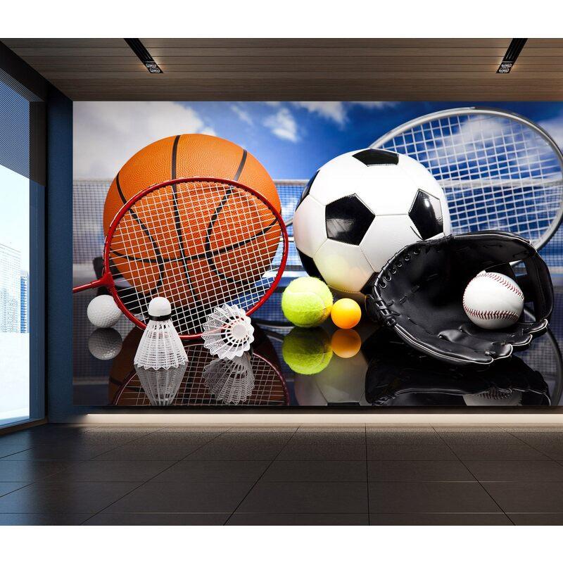 3D Ball Sports 059 Wall Murals
