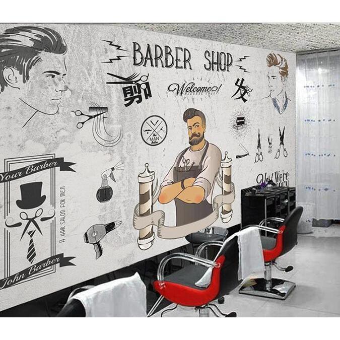 3D Barbershop 820 Wall Murals