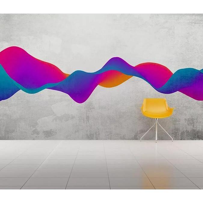 3D Color Wave 306 Wall Murals