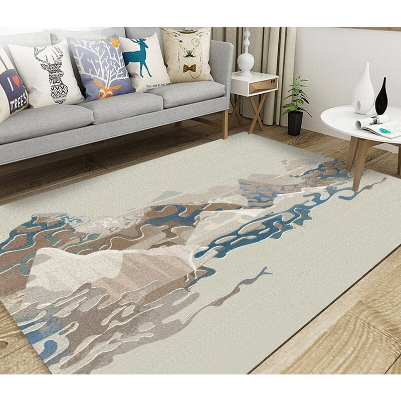 3D Colored Valley WG018 Non Slip Rug Mat