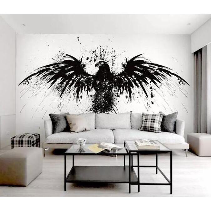 3D Crow 1080 Wall Murals