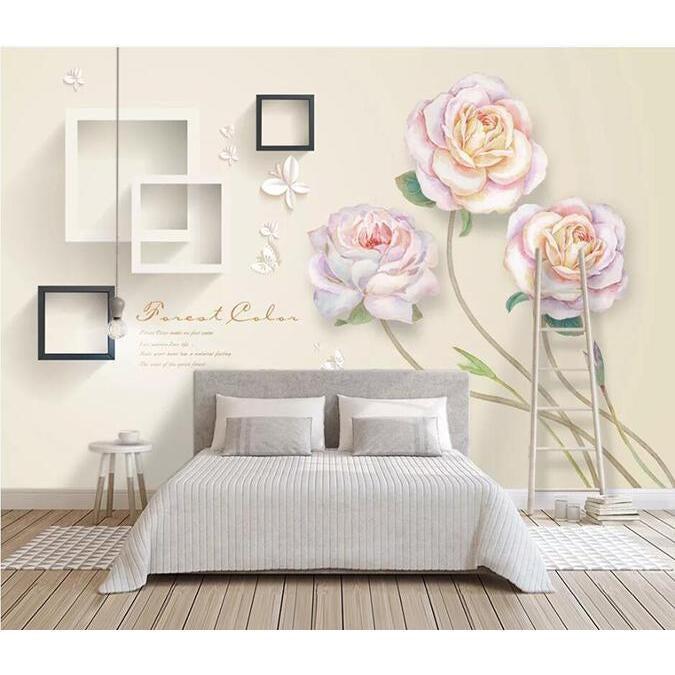 3D Flower Square 1131 Wall Murals