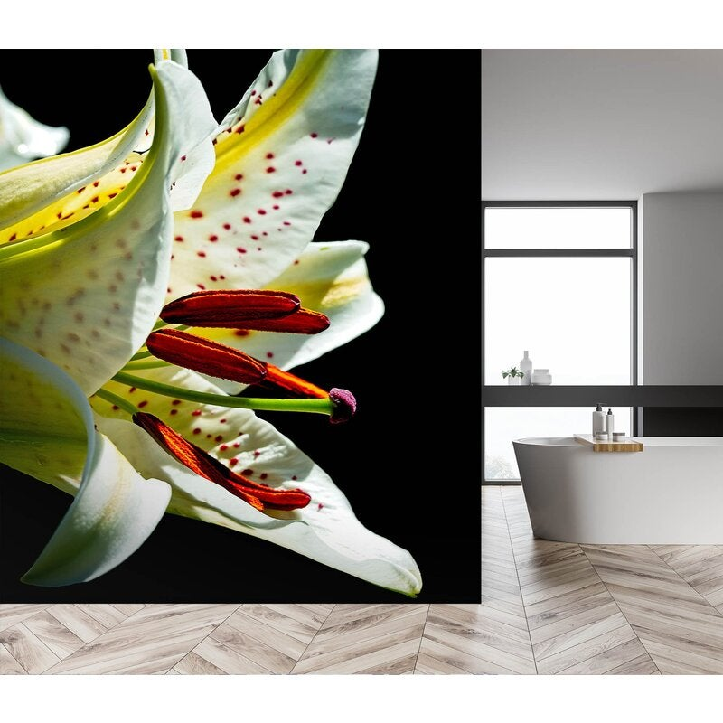 3D Fragrance Lily 1405 Kathy Barefield Wall Mural Wall Murals