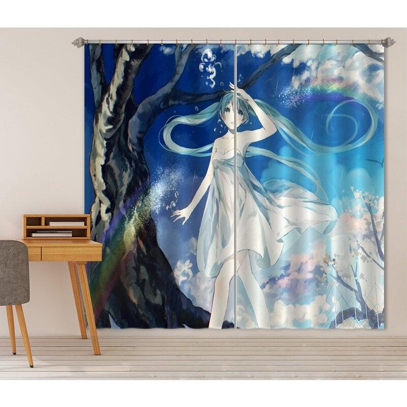 3D Hatsune Miku 126 Anime Curtains Drapes