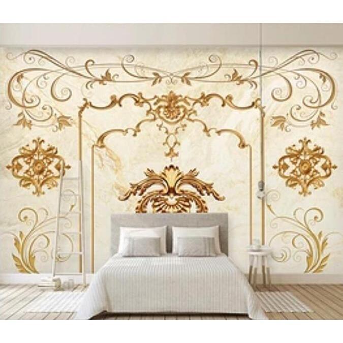3D Marble Flower 1057 Wall Murals