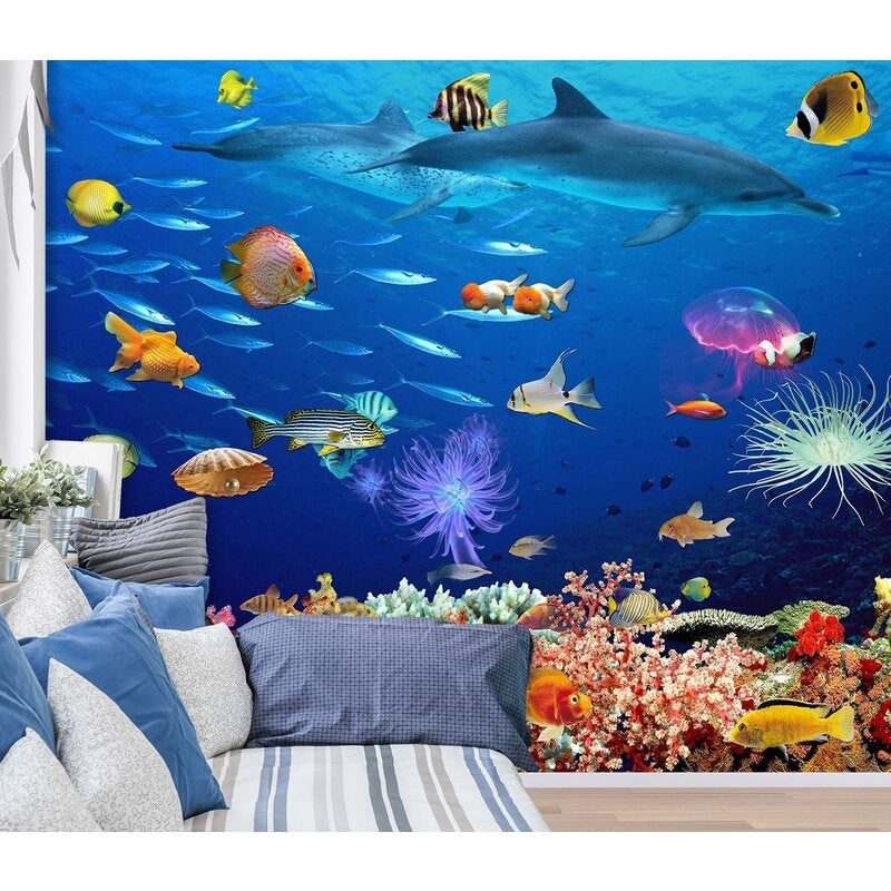 3D The Underwater World 1403 Wall Murals