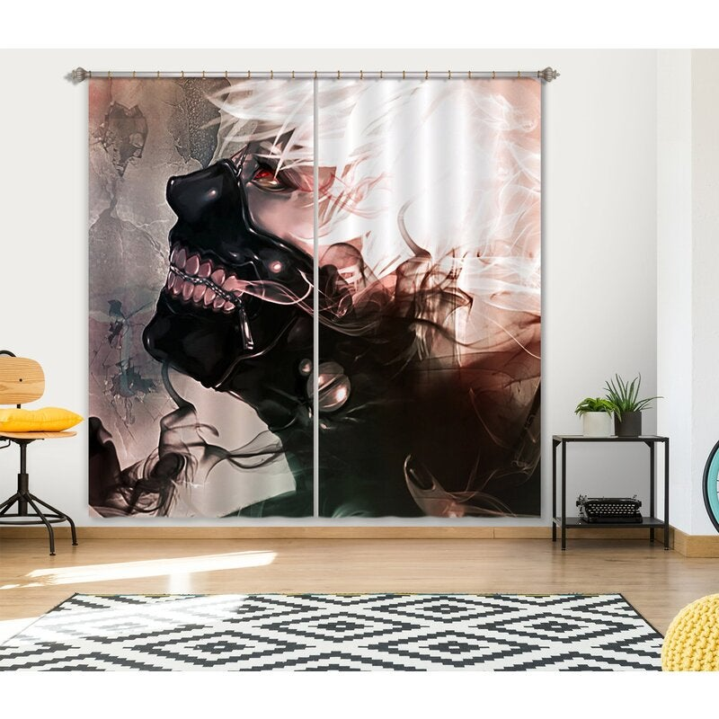 3D Tokyo Ghoul 382 Anime Curtains Drapes