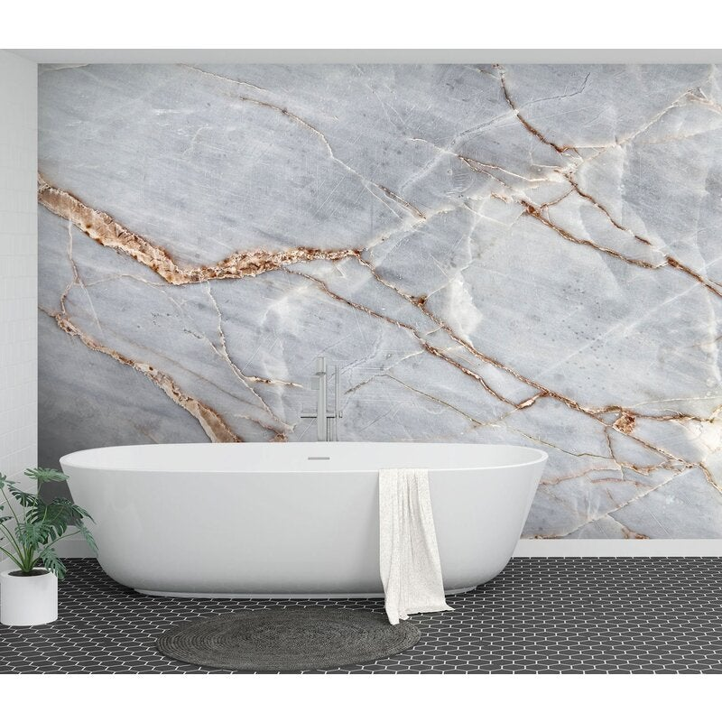 3D White Marble Crack 62 Wall Murals