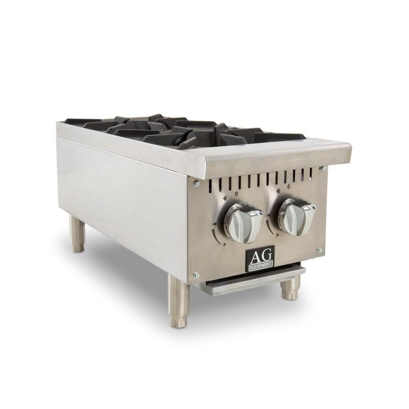 AG Two Burner Gas Cooktop Hob - 310mm width - LPG AG-AGST-2-31-LPG Cooktops & Hobs